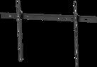 Vogel's MNT302 - Supporto a parete LCD/Plasma - Pieghevole 10 ° - Nero
