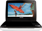 PHILIPS PD9030/12 - Tragbarer DVD-Player - 22,9 cm (9) TFT-LCD-Farbdisplay - Weiss/Schwarz