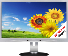 PHILIPS 220P4LPYES/00 - Monitor - 22/55.9 cm - Silber