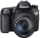 Canon EOS 70D, 18-135mm IS STM Kit, 20.2 MP, Schwarz
