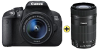 Canon EOS 700D, 18-55mm IS STM + 55-250 IS STM Kit, 18 MP, Schwarz