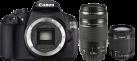 Canon EOS 1200D, 18-55mm DC III + 75-300mm USM Kit, 18 MP, Nero