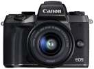 Canon EOS M5 + EF-M 15-45mm f/3.5-6.3 IS STM - Systemkamera - 24.2 MP - Schwarz + Adapter