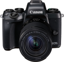 Canon EOS M5 + EF-M 18-150mm f/3.5-6.3 IS STM - Systemkamera - 24.2 MP - Schwarz + Adapter