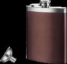 vacuvin Flachmann mit Trichter - 240 ml - Braun