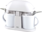 TREBS 99249 - appareil à glace duo - contenu par coupe : 300 ml - blanc