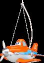 PHILIPS 717595316 Dusty - Lampe pendante - 3 ampoules - Orange