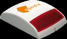 EgardiaBELL-16 - Aussensirene - 104 dB - Weiss/Rot