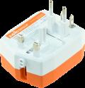 jupio PowerVault 3000 Travel Adapter - Adaptateur secteur universel avec Powerbank - 3'000 mAh - orange/blanc