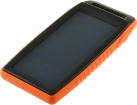 jupio PowerVault Solar 10000L - Powerbank mit Solarpanel - 10'000 mAh - schwarz/orange