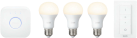 PHILIPS Hue White Starter Kit E27 - Système d'éclairage - Fixation E27 - Blanc