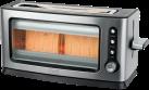 TREBS 99320 - Toaster  - mit Sichtfenster - Edelstahl