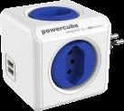 Allocacoc PowerCube Original USB - 4x T.13, 2x USB 5V, 2.1A - blau