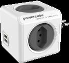 Allocacoc PowerCube Original USB - 4x T.13, 2x USB 5V, 2.1A - grau