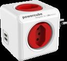 Allocacoc PowerCube Original USB - 4x T.13, 2x USB 5V, 2.1A - rot
