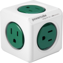 Allocacoc PowerCube Extended - Prise de dérivation - 5x Typ-B - Verte