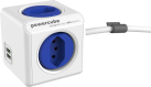 Allocacoc PowerCube Extended USB - 4x T.13, 2x USB 5V, 2.1A - blau