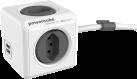 Allocacoc PowerCube Extended USB - 4x T.13, 2x USB 5V, 2.1A - grau