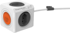 allocacoc PowerCube Extended - Abzweigstecker - 4xT.13 - Weiss
