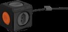 allocacoc PowerCube Extended - Abzweigstecker - 4xT.13 - Schwarz