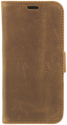 VALENTA Leather Booklet Classic Luxe - Für iPhone X - Vintage Braun