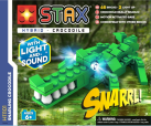 LIGHT STAX® Snapping Crocodile - LEGO®-kompatibel - 68 Steine - Grün