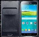 SAMSUNG Galaxy S5 Flip Wallet, noir