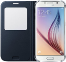 SAMSUNG GALAXY S6 S View Cover (PU), schwarz