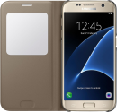 SAMSUNG S View Cover EF-CG930, für Galaxy S7, gold