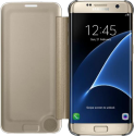 SAMSUNG Clear View Cover EF-ZG935, per Galaxy S7 edge, oro