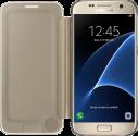 SAMSUNG Clear View Cover EF-ZG930 für Galaxy S7, gold