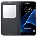 SAMSUNG S View Cover EF-CG935, per Galaxy S7 edge, nero