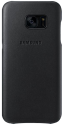 Samsung Leather Cover S7, noir