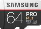 SAMSUNG Pro Plus - microSDXC - 64 GB - Weiss/Schwarz