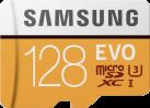 SAMSUNG Evo - Micro SDXC - 128 GB - Bianco/Giallo