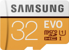 SAMSUNG Evo - microSDHC - 32 Go - Blanc/Jaune