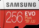 SAMSUNG Evo Plus - microSDXC - 256 GB - Weiss/Rot