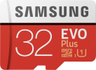 SAMSUNG Evo Plus - micro SDHC - 32 Go - Blanc/Rouge