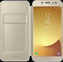 SAMSUNG Wallet Cover - Für Samsung Galaxy J7 (2017) - Gold