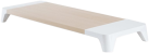 Pallo Woody 2 - Monitor Stand - Induktionsladung - Weiss/Ahorn