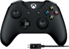 Microsoft Xbox Wireless Controller + Kabel - Für Windows - Schwarz