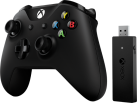 Microsoft Controller Xbox + adattatore wireless per Windows - Bluetooth - Nero