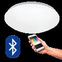 EGLO 32589 GIRON CONNECT, Bluetooth LED-Deckenleuchte RGBW, weiss