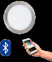 EGLO 32754 FUEVA CONNECT, Bluetooth LED-Einbauleuchten RGBW, silber