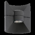 EGLO 93368 REDONDO - Lampada da parete - 2x 2.5 watts - Antracite