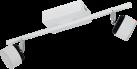 EGLO ARMENTO 93853 - Deckenleuchte - 2x 6 W - Weiss/Schwarz