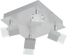 EGLO GEMINI 1 93867 - Plafoniere - 4x 5,4 W - Alluminio spazzolato/Satinato