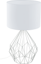 EGLO PEDREGAL 1 95187 - Tischleuchte - Max. 60 W - Chrom/Weiss