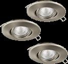 EGLO TEDO 1 95359 - Einbauleuchte - 3x 5 W - Nickel-matt