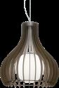 EGLO TINDORI 96218 - Hängeleuchte - 60 W - Nickel-matt/Dunkelbraun